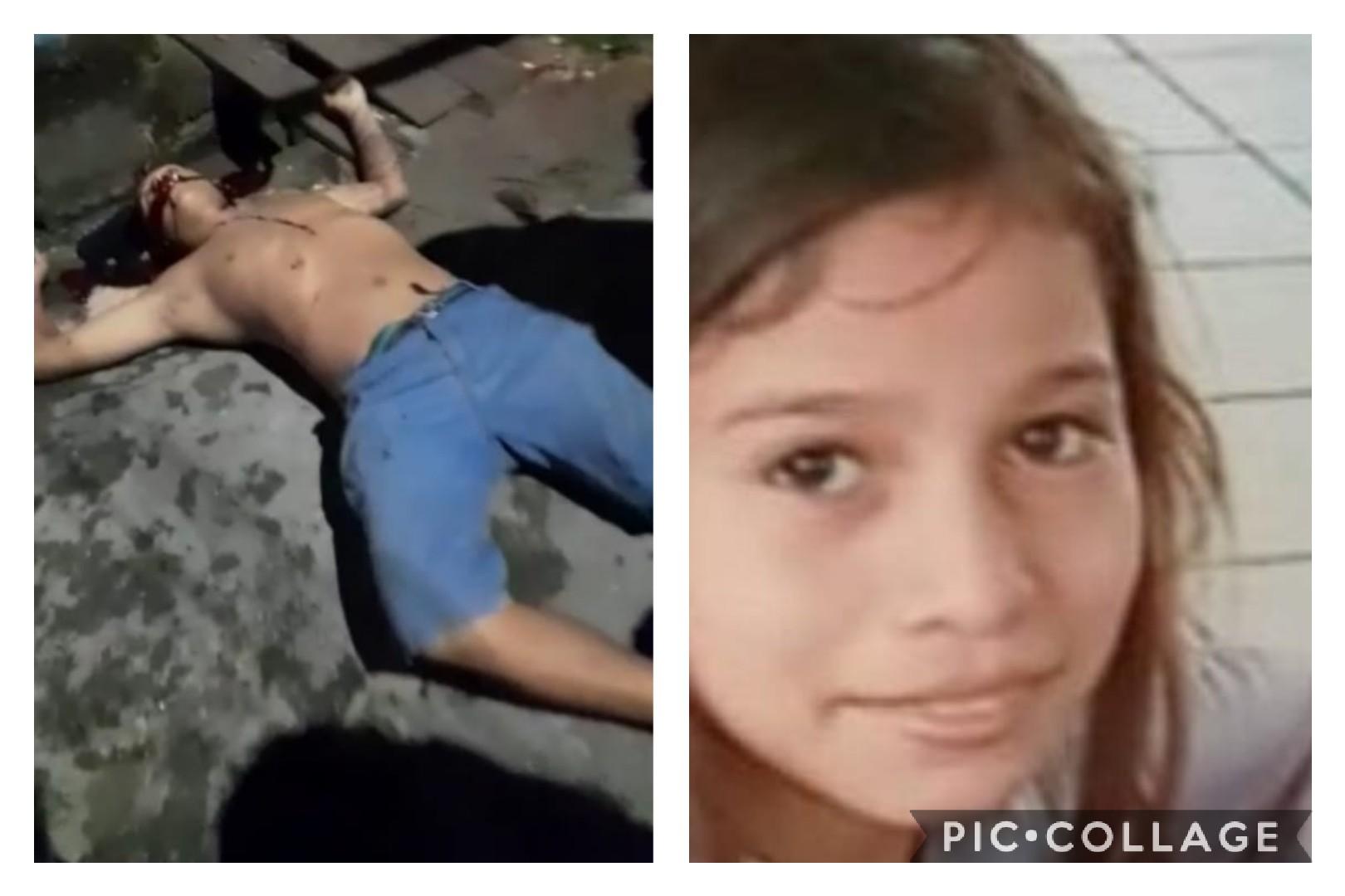 """ASSASSINOS - da menina Lohanny, de apenas 8 anos, podem ter executado o comparsa e colocado o bilhete escrito """"Morri porque matei criança"""""""